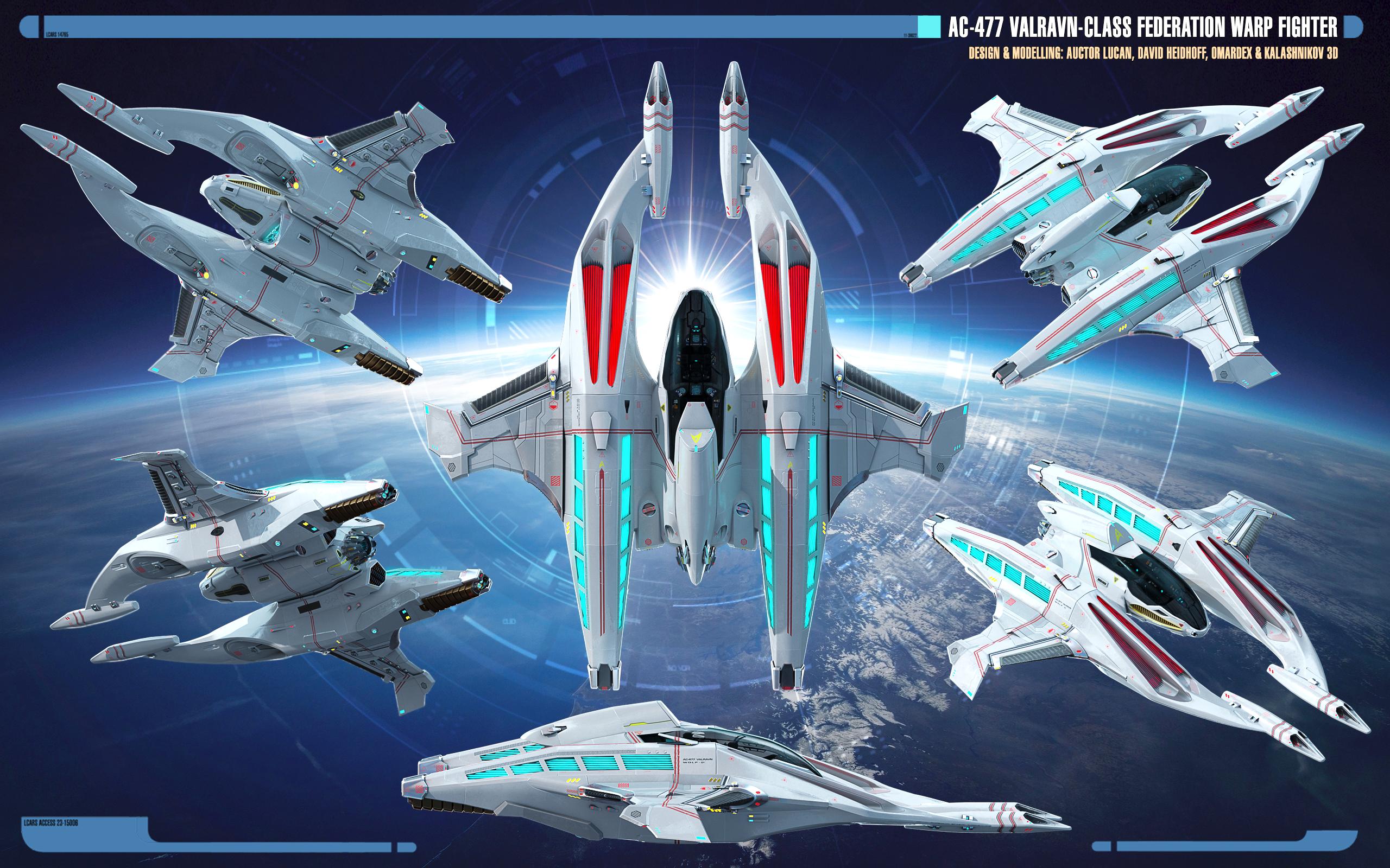 Fileoverview Ac 477 Valravn Class Warp Fighterpng Star Trek