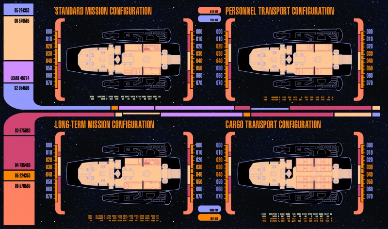 Example Configurations outlined by Starfleet Engineering Guidelines